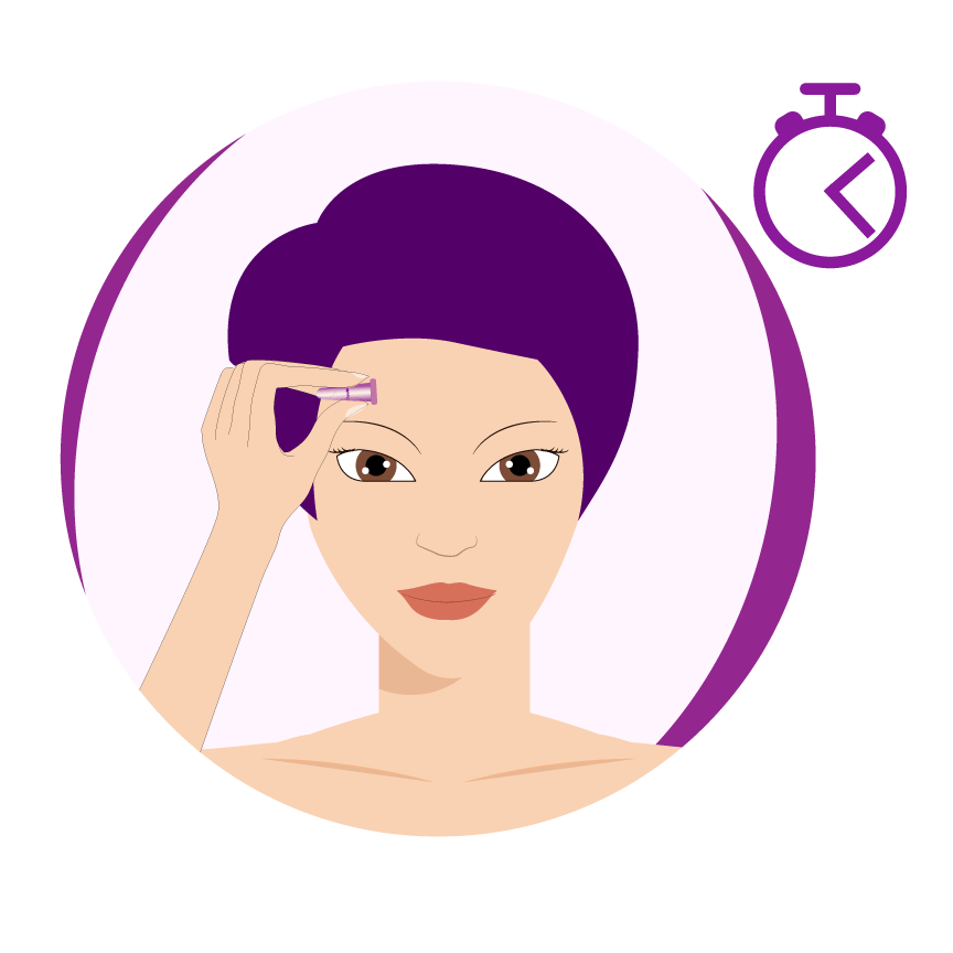 illustration cupyslim placer la ventouse sur le visage